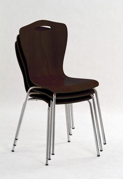 K-84 fémvázas szék, lemezelt, rakásolható