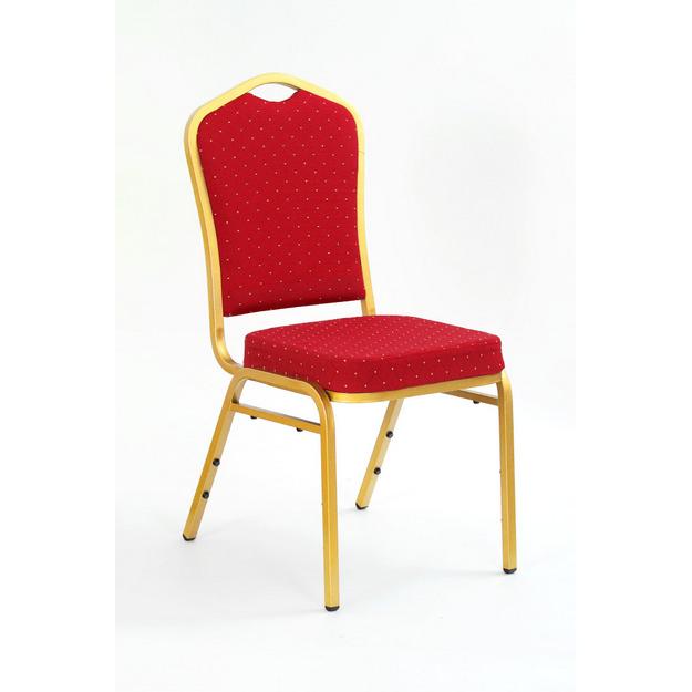 K-66 fémvázas konferencia szék,arany színű váz,rakásolható