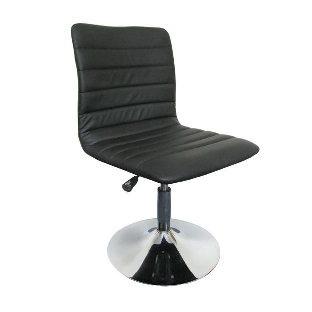 MF-3252 design szék, króm, fekete textilbőr, gázliftes