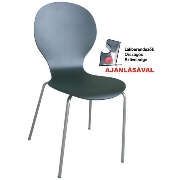 Shell (MF-0217) rakásolható lemezelt szék fekete