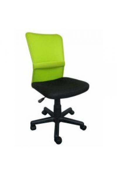 OF-0316 gyerek forgószék, fekete hálós ülés és zöld hálós támla