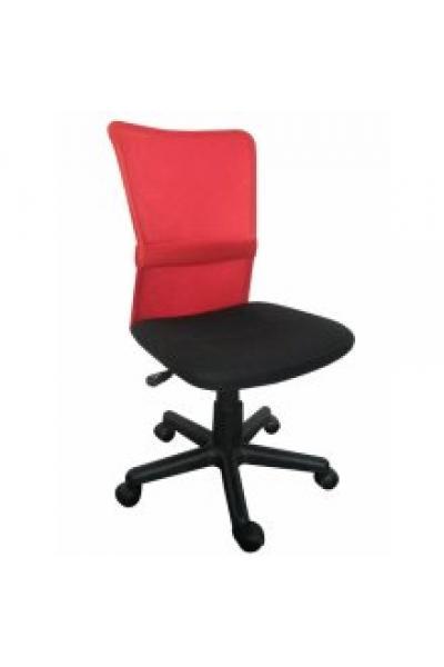 OF-0336 gyerek forgószék, fekete hálós ülés és piros hálós támla