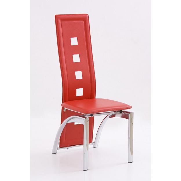 K-4 fémvázas szék, króm, PVC