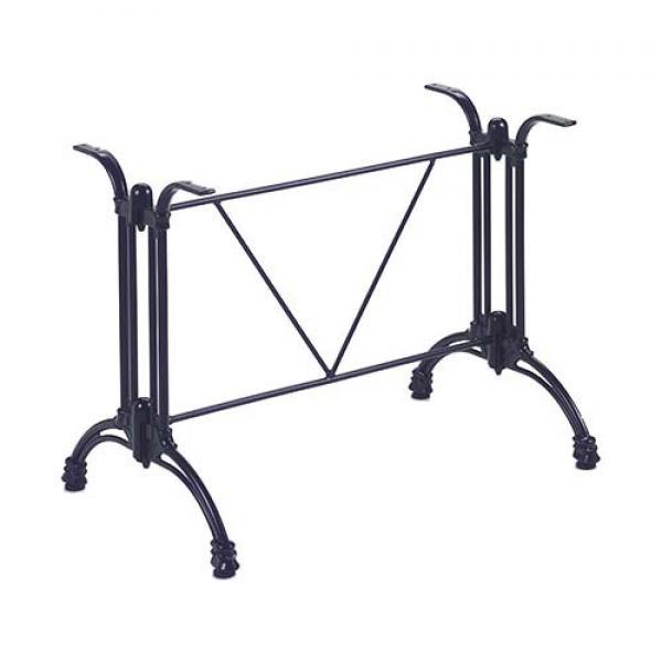 Tivoli 2/Gietalu fém asztalláb, dupla, íves, fekete