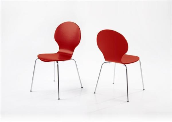 Shell (MF-2613) rakásolható lemezelt szék piros