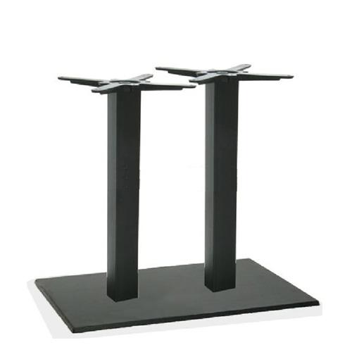 Bergamo 2 oszlopos asztalláb fekete 70x40x72