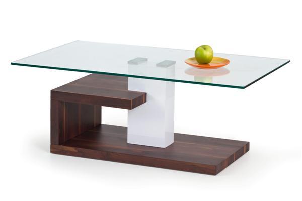 Evelin dohányzó asztal üveglapos