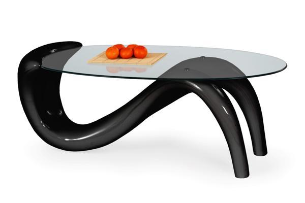 Cortina dohányzó asztal üveglapos