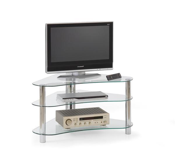 Stolik RTV-13 Tv állvány alu szintelen üveglapos 95x60x51 cm