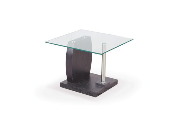 Susan dohányzó asztal wenge üveglapos 60x60x45