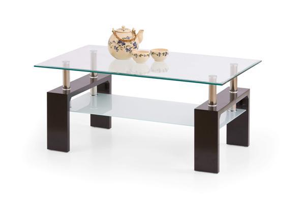 Diana dohányzó asztal üveglapos 110x60x45
