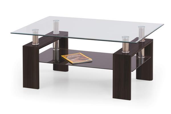 Diana Max dohányzó asztal üveglapos 120x70x50
