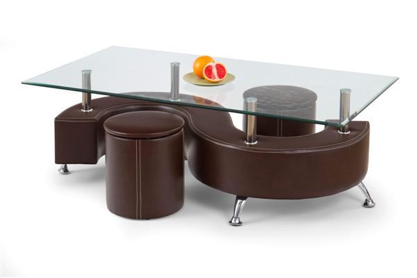 Nina III. dohányzó asztal üveglapos 130x70x44
