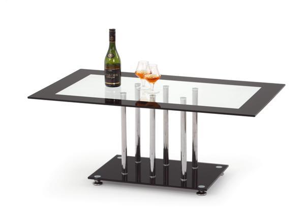 Harriet dohányzó asztal króm üveglapos 110x65x45