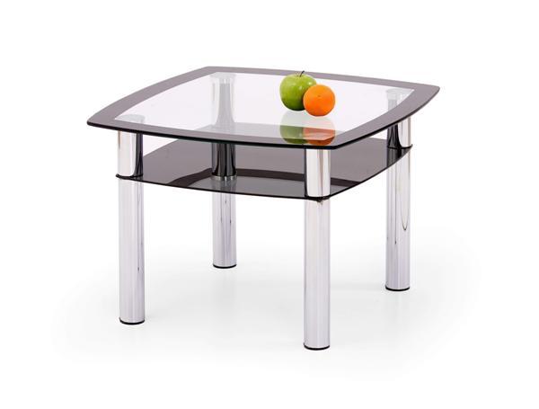 Salome Kwadrat dohányzó asztal króm üveglapos 60x60x43