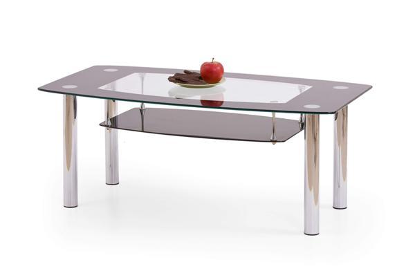 Salome dohányzó asztal króm üveglapos 110x60x45