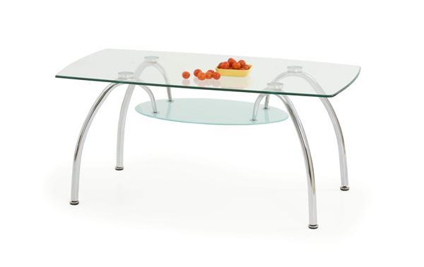 Austin dohányzó asztal króm üveglapos 110x60x50