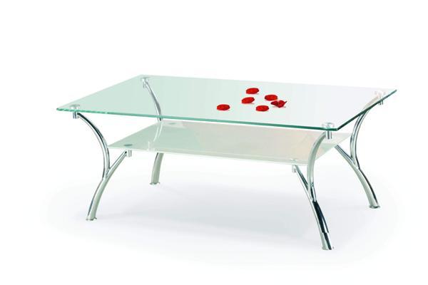 Carmen dohányzó asztal króm üveglapos 120x65x44