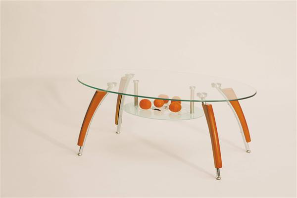 Ada dohányzó asztal króm üveglapos 109x60x44