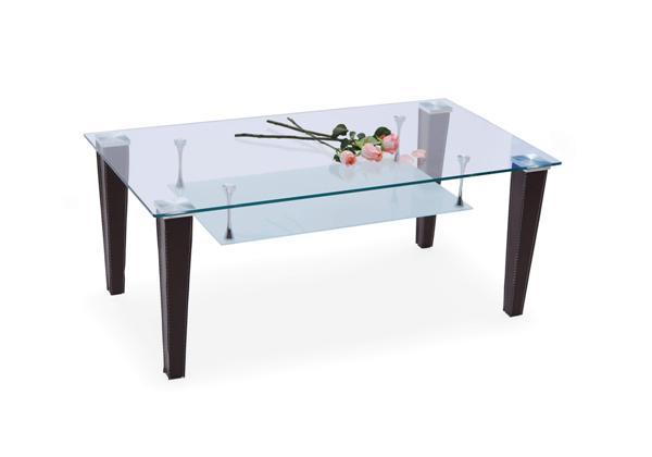 Amber dohányzó asztal barna, üveglapos 110x60x45