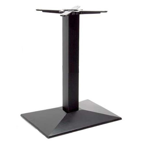 Hartford fém asztalláb, négyzetes íves, sima, fekete 55x40