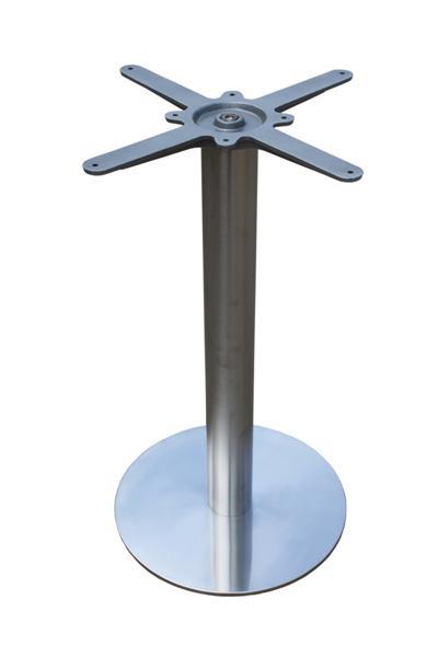 GF-2109 fém asztalláb, kerek, sima, metal inox