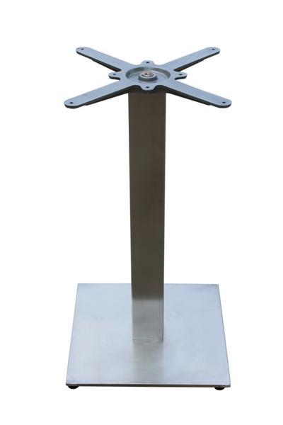 GF-2110 fém asztalláb, négyzetes, sima, metal inox