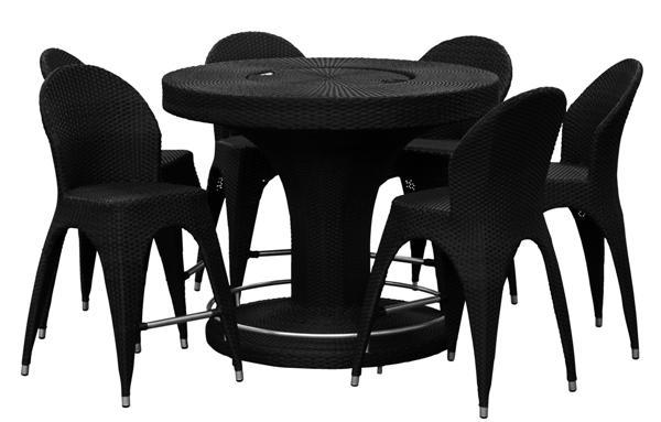 Chivas kültéri garnitúra (1 asztal   6 szék)