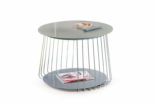 Riva dohányzó asztal szürke 70 cm kör