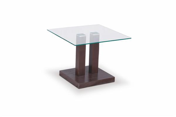 Gaya dohányzó asztal MDF üveglapos wenge 50x50x45