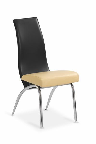K-2 fémvázas szék, króm/textilbőr
