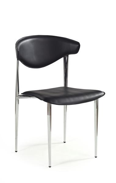 K-6 műanyag szék króm, fekete