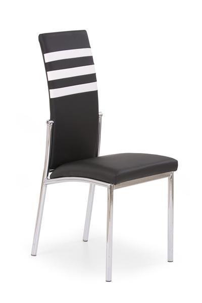 K-54 fémvázas szék, króm, fekete-krém textilbőr