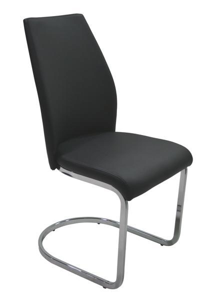 MF-5705 fémvázas kárpitozott szék króm, fekete textilbőr