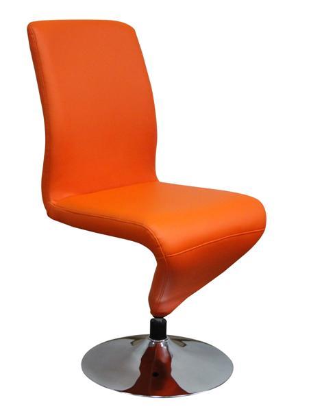 MF-5913 fémvázas forgós szék króm, orange textilbőr