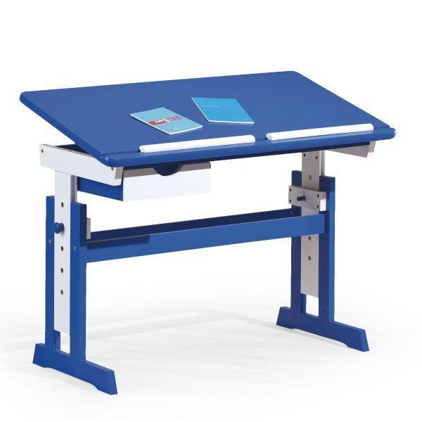 Paco gyerek íróasztal, állítható, kék-fehér MDF