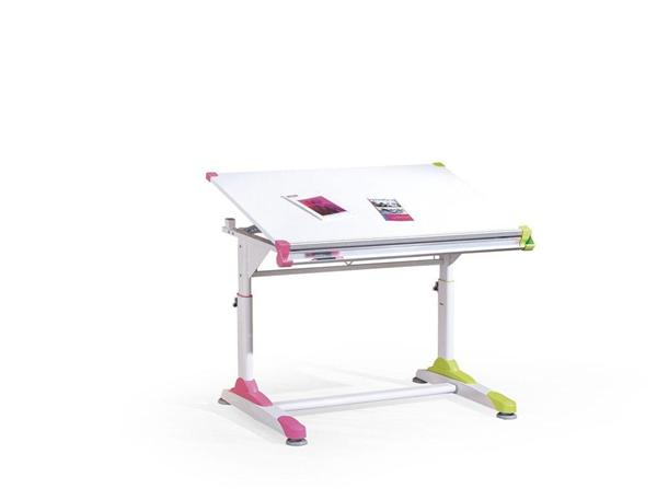Collorido gyerek Íróasztal, állítható, acél/lakkozott MDF