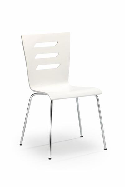 K-155 fémvázas lemezelt szék, króm, fehér