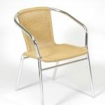 fémvázas sárga szék