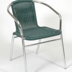 fémvázas zöld szék