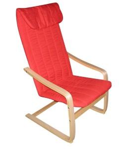 MF-4299 relax fotel natúr, piros