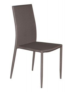 Karácsonyi ajánlat MF-5870 fémvázas, rakásolható kárpitozott szék, barnás-szürke szövettel
