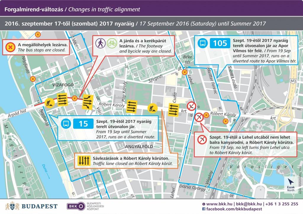 térkép a körút felújítása Impala Bútorkereskedő Kft.